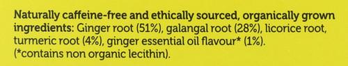 Organic Herbal Tea Three Ginger 20 Sachets 36 G