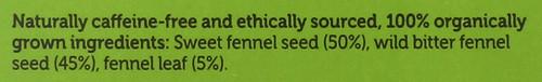 Organic Herbal Tea Three Fennel 36 G 1.27oz