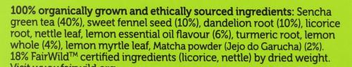 Organic Herbal Tea Clean Matcha Green 20 Sachets 30 G