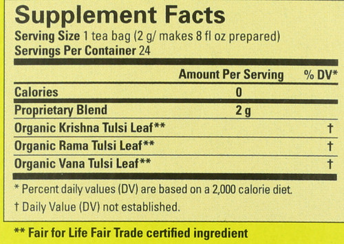 Pure Tulsi Tea Bags 24 Tea Bags 1.7oz
