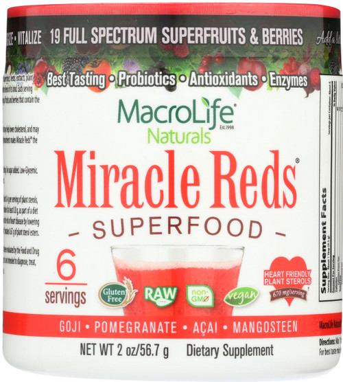 Miracle Reds Superfood Powder 6-Srv Trial/Travel Size Container