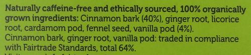 Organic Herbal Tea Vanilla Chai 20 Sachets 40 G