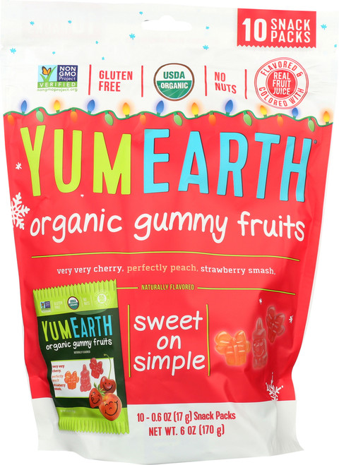 Christmas Gummy Bears  Pomegranate Pucker, Mango Tango, Perfectly Peach, & Strawberry Smash