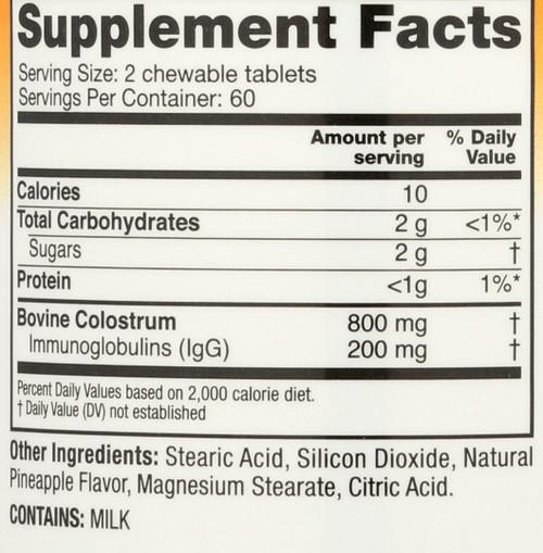 Colostrum Plus® Pineapple Chewable  120 Each