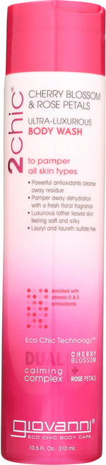 Body Wash 2Chic Ultra-Luxurious Body Wash With Cherry Blossom & Rose Petals