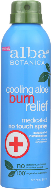 Burn Relief Medicated Spray Aloe Cooling