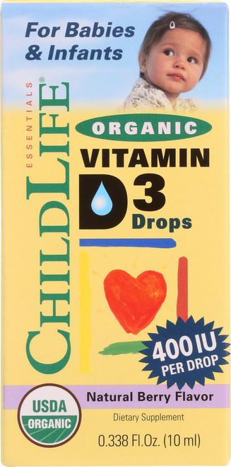 Vitamin D3 Drops Natural Berry Flavor, 400Iu