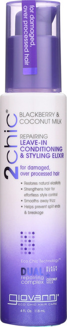 Leave-In Conditioner 2Chic Repairing  Leave-In Conditioning & Styling Elixir With Blackberry & Coconut Milk