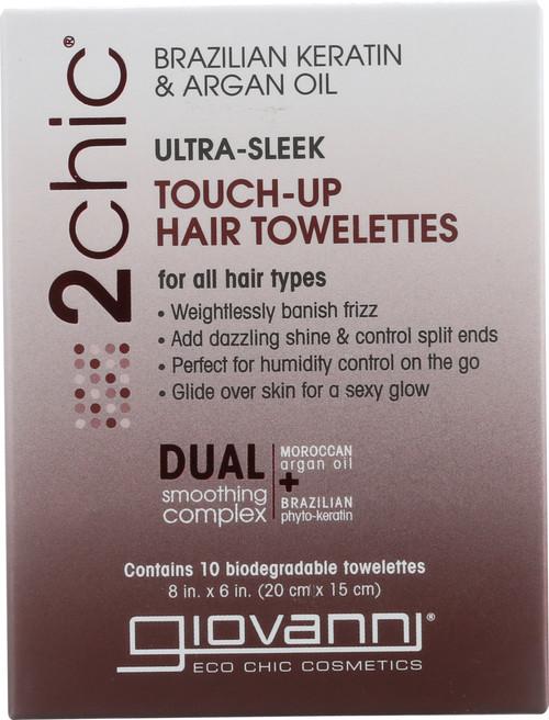 2Chic Hair Towelette Brazilian Keratin & Argan Oil