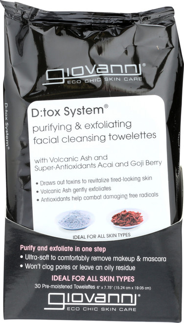 Facial Towelettes D:Tox System Facial Cleansing Towelettes (Purifying & Exfoliating)