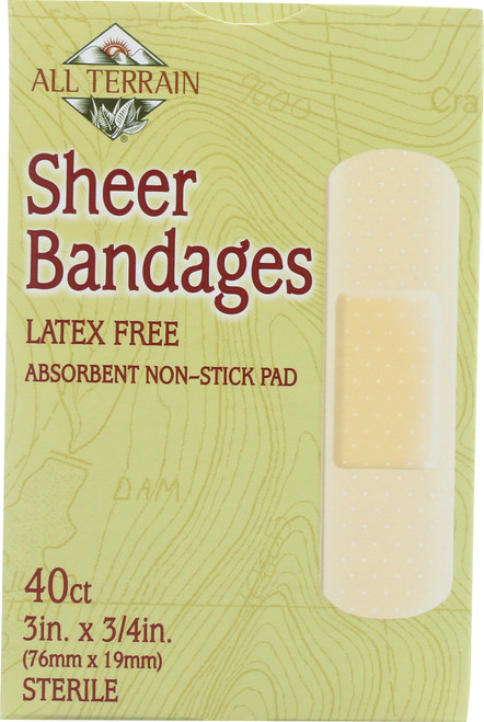 Sheer Bandage 3In. X 3/4In.