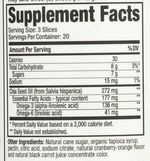 Omega 3 With Chia Seed Vegetarian Omega 3-6-9 60 Gummies