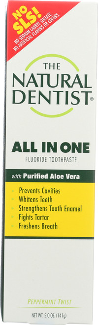 All In One Fluoride Toothpaste Peppermint Twist