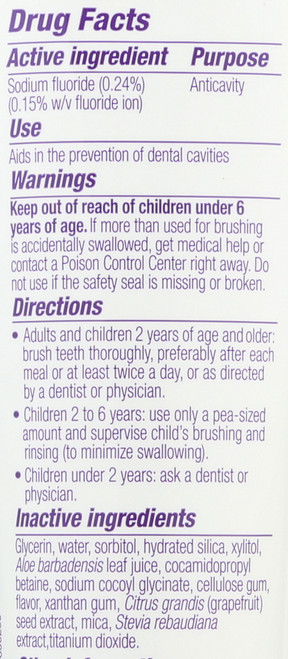 Cavity Zapper® Fluoride Gel Toothpaste Not Yucky Grape 5oz 141 G