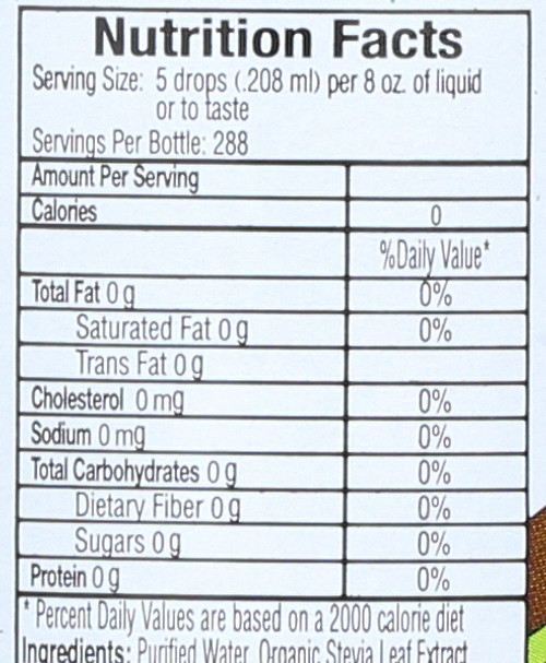 Sweet Drops Chocolate Liquid Stevia 2 Fluid Ounce 60 Ml