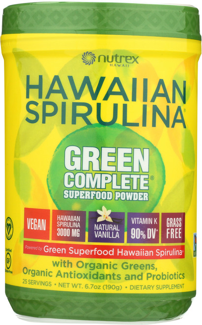 Green Complete® Spirulina With Mixed Greens, Vanilla Flavor