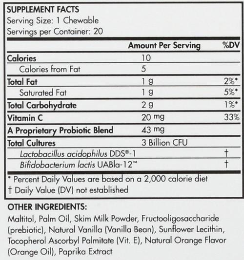 Probiotic Adult Cubes Creamy Orange 20 Chewable
