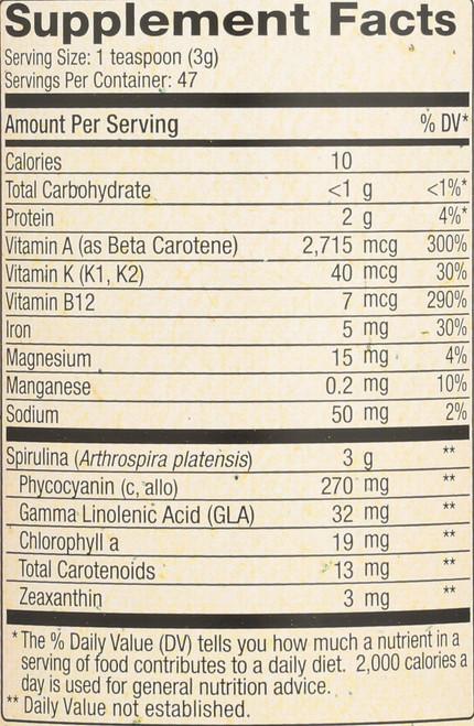 Spirulina Pacifica Powder Spirulina, Microalgae 5oz 142 G