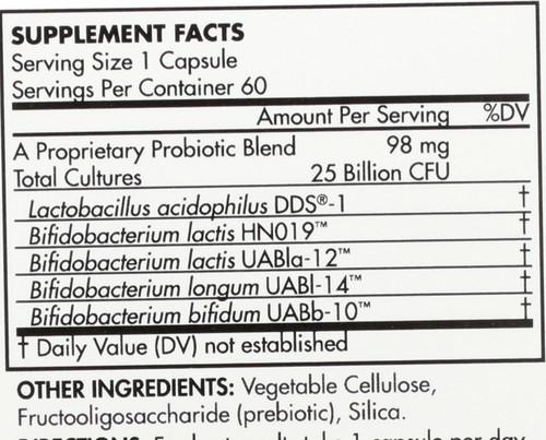 Probiotic Adult 50+ 25 Billion Cfu 60 Capsules