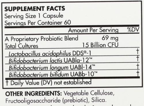 Probiotic Adult 15 Billion Cfu 60 Capsules
