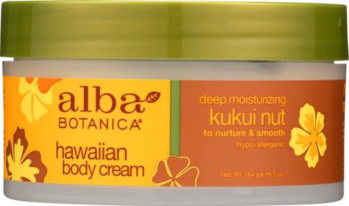 Hawaiian Body Cream  Deep Moisturizing Kukui Nut