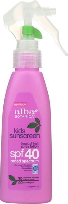Kid Sunscreen S Spray Very Emollient Spf40 Alba Sun Spray Kids Spf40