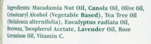 Tea Tree Antiseptic Ointment With Eucalyptus Radiata & Lavender Oil 2oz 57 Gm