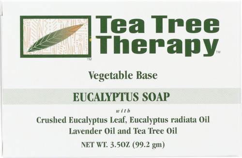 Eucalyptus Soap Crushed Eucalyptus Leaf, Eucalyptus Radiata Oil, Lavender Oil And Tea Tree Oil
