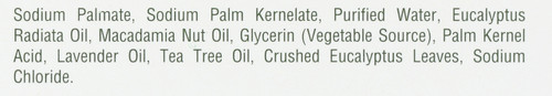 Eucalyptus Soap Crushed Eucalyptus Leaf, Eucalyptus Radiata Oil, Lavender Oil And Tea Tree Oil Vegetable Base 3.5oz 99.2 Gm