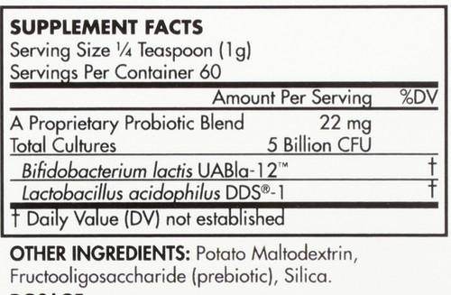 Children's Probiotic Supplement Powder Form 5 Billion Cfu 60 G 2.1oz