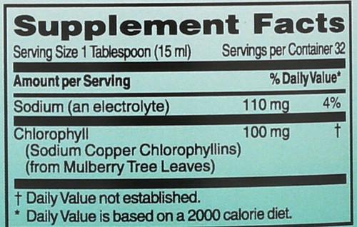 Chlorophyll Liq Mulberry  16 Fl oz 1 Pint