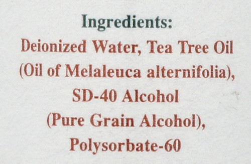 Tea Tree Oil 15% Water Soluble Antiseptic Solution 2 Fl oz 60 Ml