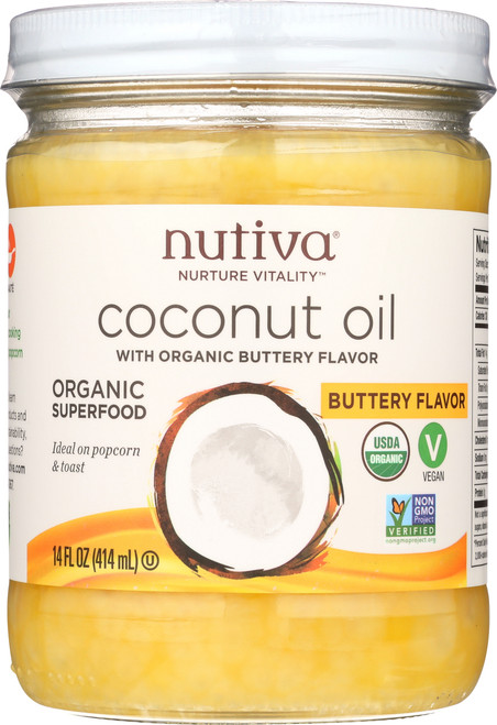 Coconut Oil With Organic Butter Flavor