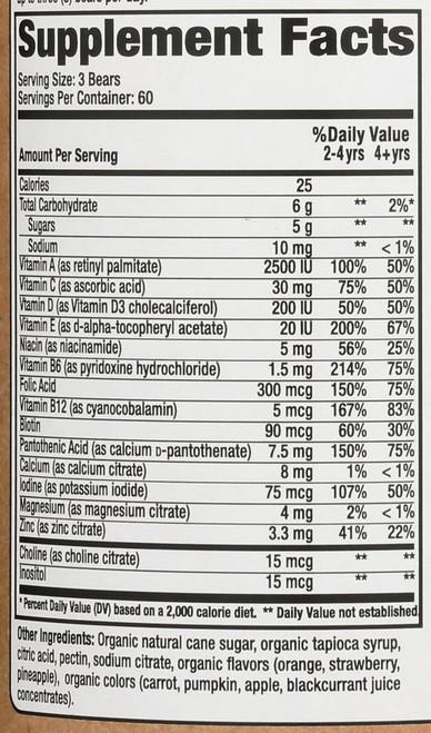 Complete Multi Vitamin & Mineral Organic Value Size 180 Gummy Bears