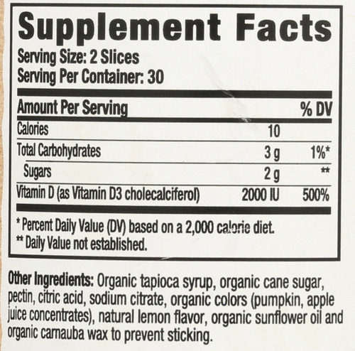 Vitamin D3 Organic  60 Gummies