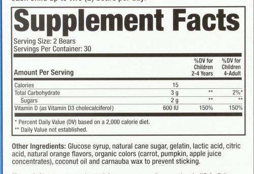 Vitamin D3  60 Gummy Bears