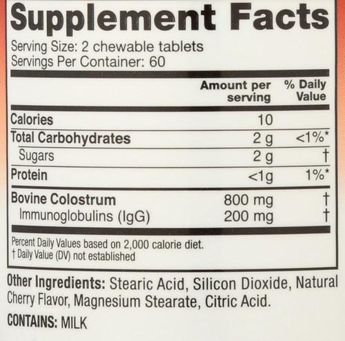 Colostrum Plus Chewable 120 Tb Wild Cherry 120 Chewable Tablets