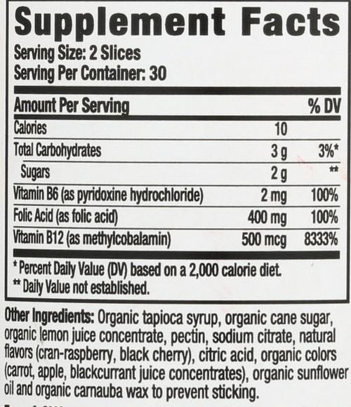 Energy + B12 Organic  60 Gummies
