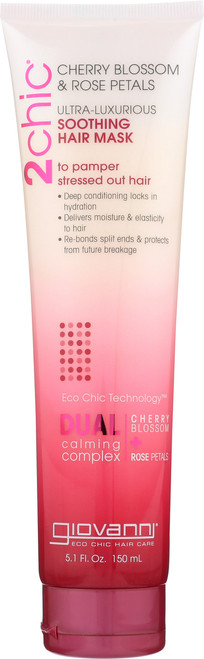 2Chic Ultra-Luxurious Soothing Hair Mask With Cherry Blossom & Rose Petals
