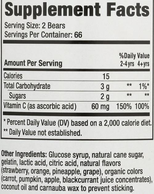 Vitamin-C Value Size 132 Gummy Bears