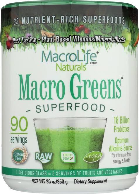 Macro Greens® Superfood Powder 90-Srv Container