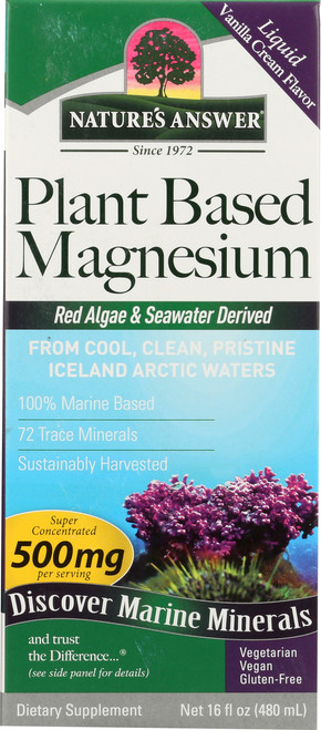 Plant Based Magnesium Red Algae & Seawater Derived 500 Mg