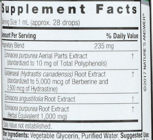 Echinacea/Goldenseal Alcohol - Free  1 Fl oz 30 Ml