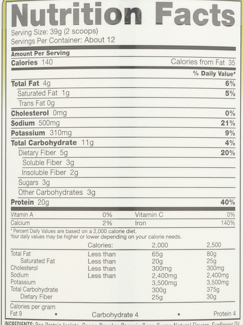 Pea Protein™ Vegan Shake Chocolate 16.5oz 468 G