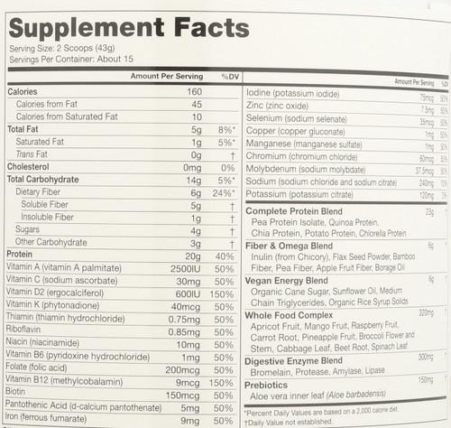 Vegan Smart™ Vanilla All-In-One Nutritional Shake 22.8oz 1.4 Lb
