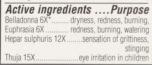 Kids Irritated Eye Relief Sterile Eye Drops Multi-Symptom 10 Ml 0.33 Fl oz