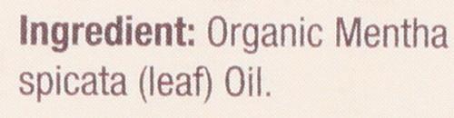 Essential Oil Spearmint Organic 100% Pure 0.5 Fluid Ounce 15 Ml