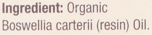Essential Oil Frankincense Organic 100% Pure 0.5 Fluid Ounce 15 Ml