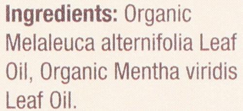 Essential Oil Tea Tree & Spearmint Organic Blend 100% Pure 0.5 Fluid Ounce 15 Ml