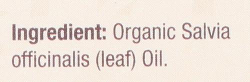 Essential Oil Sage Organic 100% Pure 0.5 Fluid Ounce 15 Ml
